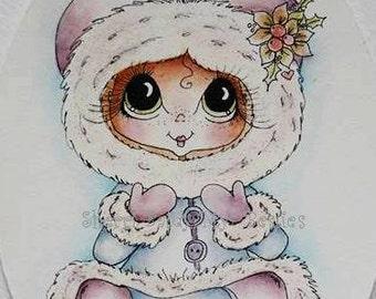 INSTANT DOWNLOAD Digital Digi Stamps Big Eye Big Head Dolls Digi  Img911 Christmas By Sherri Baldy