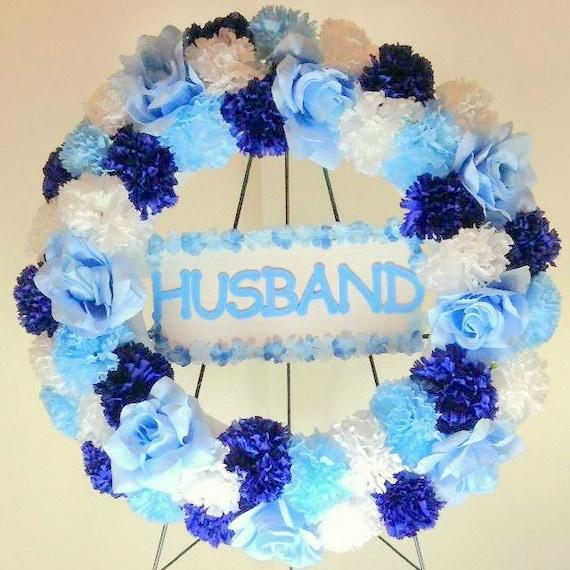 24 gravesite wreath cemetery silk flowers memorial etsy image 0 mightylinksfo