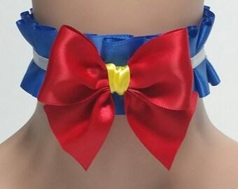 Sailor Moon Choker,Choker,Victorian,Kitten Pet Play Collar,BDSM,DDLG,Necklace,Daddys Girl,Kawaii,Anime,Fairy Kei,Cat Choker,
