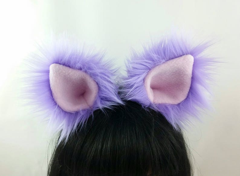Lavender Cat Ears-Halloween-Cat Ear For Kids-Adult Cat Ears-cat Ear and Tail For Kids-Cat Costume-Cat Birthday Party-Harajuku Fashion