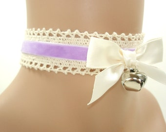Cat Choker-Kitty Choker-Lolita Choker-Kitten Pet Play Collar,BDSM,DDLG,Necklace,Daddys Girl,Kawaii,Choker-Gift For Her-Harajuku,Cosplay