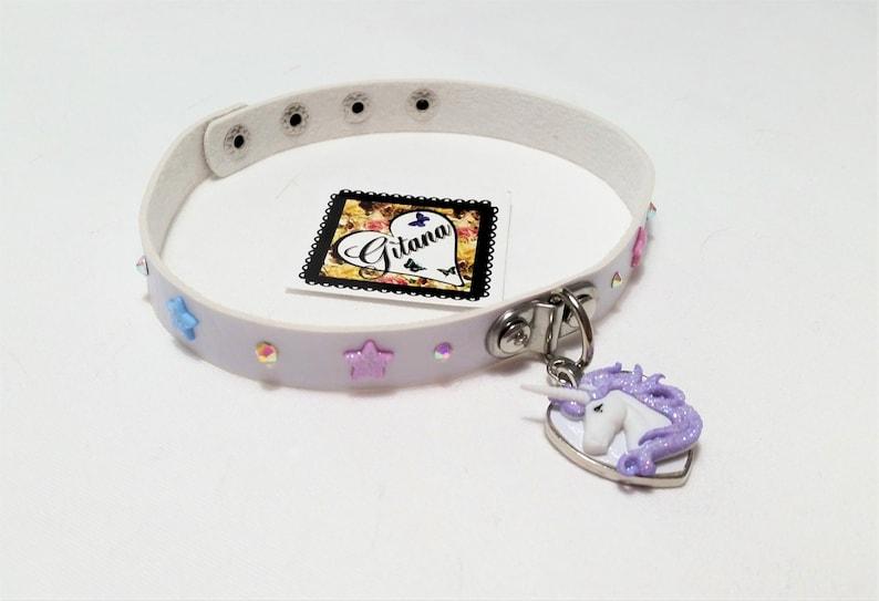 Pastel Unicorn Choker,Choker,Victorian,Kitten Pet Play Collar,BDSM,DDLG,Necklace,Daddys Girl,Kawaii,pastel goth,Fairy Kei,Cat Choker,White