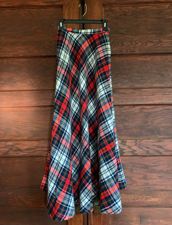 Tartan plaid maxi skirt/ Vintage maxi plaid skirt… - image 8