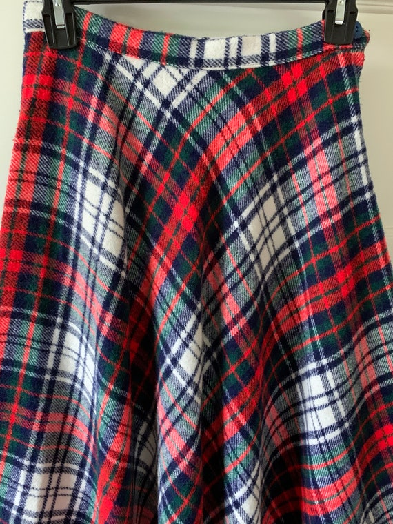 Tartan plaid maxi skirt/ Vintage maxi plaid skirt… - image 5
