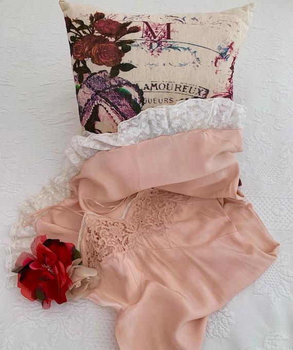 Vintage 30s-40s Silk Slip Dress Bias Negligee/Vint