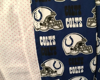 Indianapolis Colts, Receiving Blanket, Baby Blanket, Football, Colts, Reversible Blanket, Flannel, Colts Baby Blanket