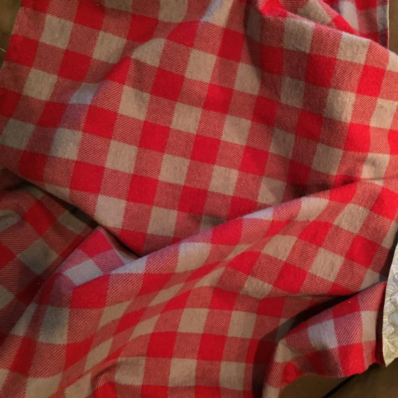 Reversible Blanket Baby Blanket Flannel Buffalo Check Receiving Blanket Red Gender Neutral Checks Gray