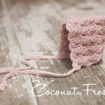 Crochet vintage inspired LACE PIXIE BONNET beanie hat photo prop - baby, toddler, child, pre-teen