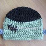 Crochet FRANKENSTEIN beanie hat photo prop - baby, toddler, child, teen & adult