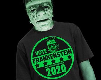 FRANKENSTEIN SUPER SALE - Puke Green ink - Free Shipping and Free V Frankenstein sticker