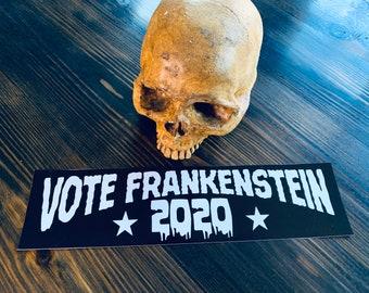 """Vote Frankenstein 2020 12"""" vinyl bumper sticker"""