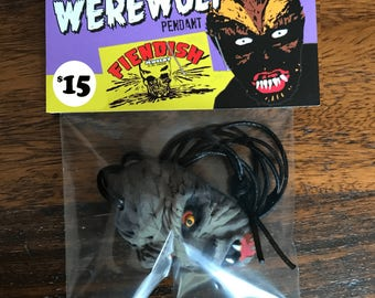 Howlin' WEREWOLF Pendant - Retro Mask Styled