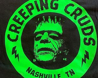 Creeping Cruds Puke Green on black
