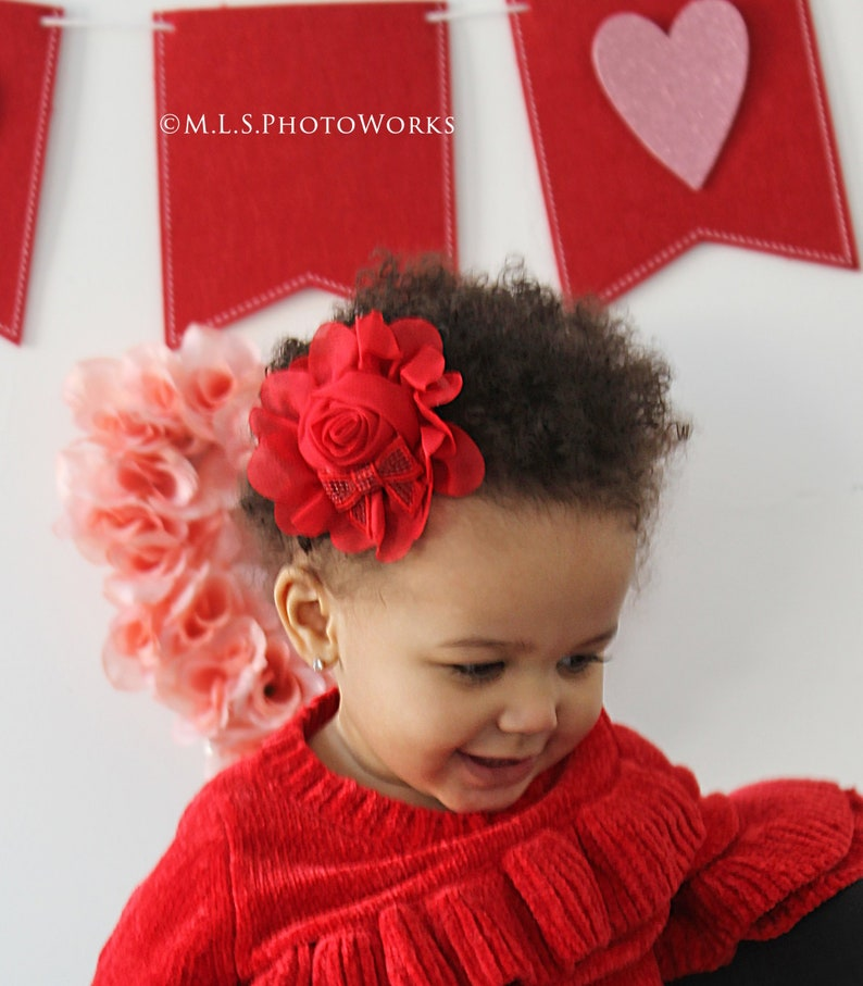 Christmas Headband For Baby Girl.Brilliant Christmas Red Flower Bow Headband Red Chiffon Rose Holiday Toddler Hair Bow Baby Girl Christmas Headbands