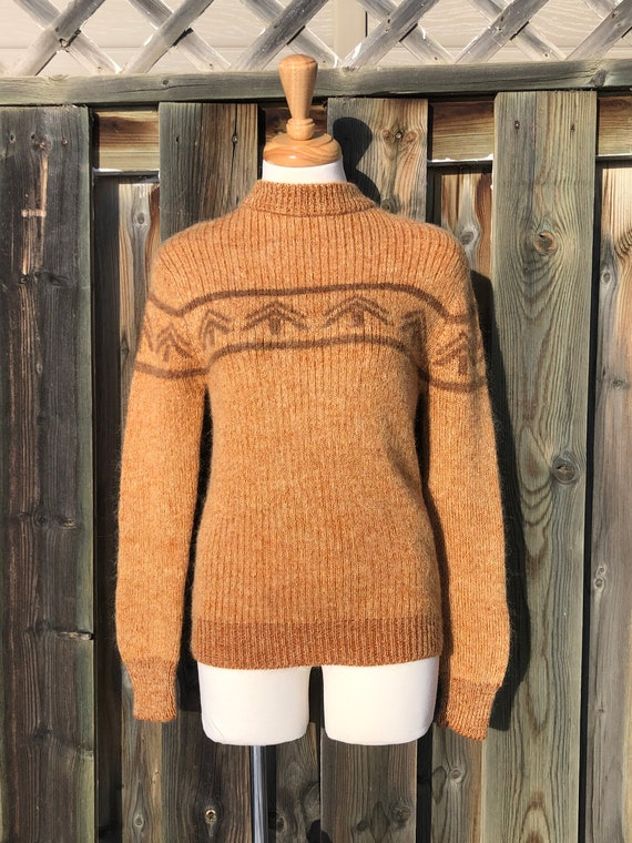 vintage sweater retro alpine sweater apres ski woo