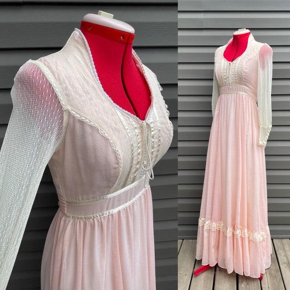 1970s Gunne Sax size 9 romantic bridal collection… - image 3