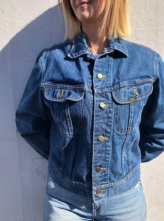 Riders by Lee Indigo Womens Denim Trucker Jacket Denim Jacket