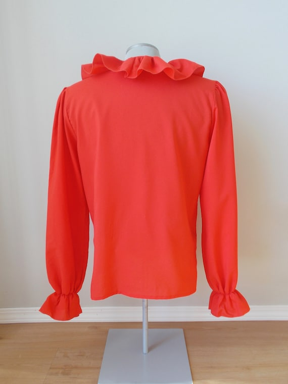vintage red ruffle blouse romantic spanish gypsy … - image 4