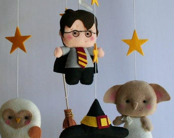 School wizard Baby Crib Mobile, Baby Crib Mobile, Nursery Wizard, Furniture, Bedding Decor, Baby Birthday Party, Baby Shower EOS, Dolls 7 4