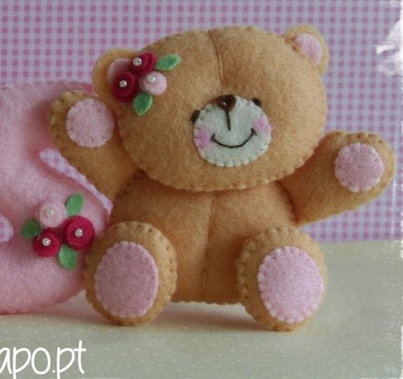 Items Similar To Forever Friends Teddy Bear Felt Name