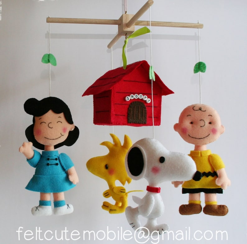 Snoopy Mobile Charlie Brown Mobile Baby Crib Mobile Nursery Etsy