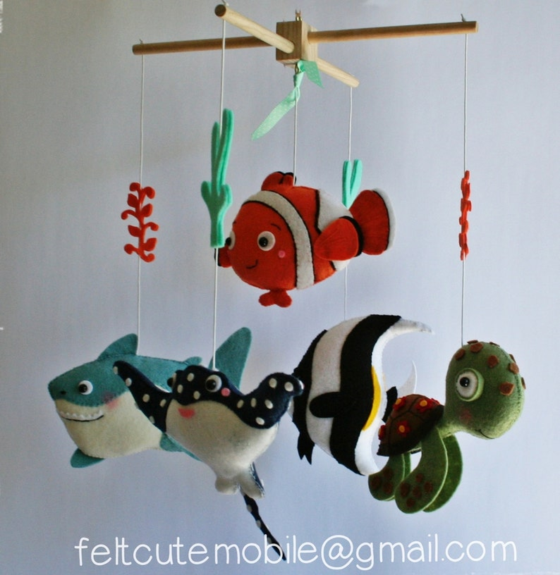 495272b6269b Fish mobile baby fish mobile crib sea creatures under the sea