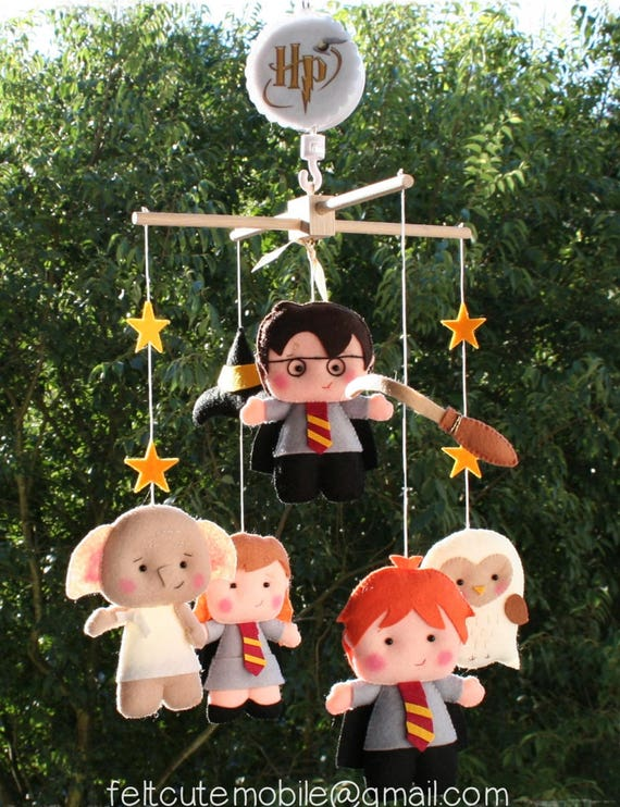 nursery mobile musical baby nursery decor neutral mobile baby crib mobile  woodland birthday mobile music box mother's day harry potter