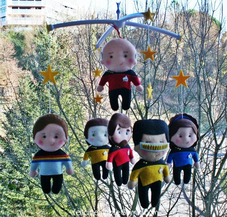 Baby Hänge Mobile Star Trek Charaktere Baby Krippe Bettwäsche Etsy