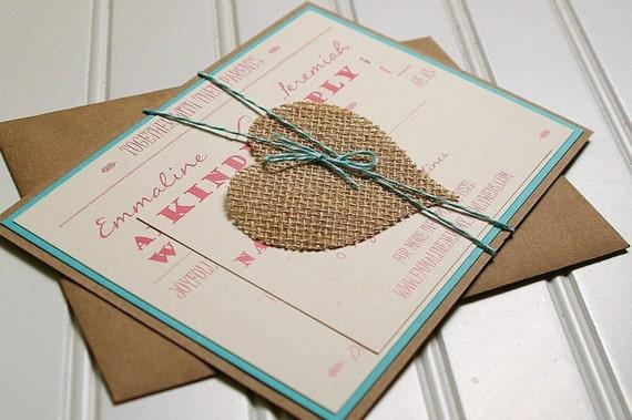 Handmade Rustic Wedding Invitations: Modern Rustic Wedding Invitations: Unique Handmade Rustic