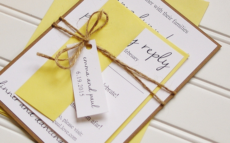 Handmade Rustic Wedding Invitations: Rustic Wedding Invitations: Unique Handmade Rustic Kraft