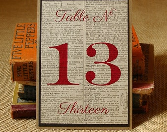 Table Numbers: Book Page Table Signs. Wedding Table Decor. Wedding Table Number. Wedding Decor. Vintage Wedding. Rustic Wedding.