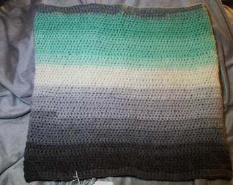 Teal and Gray Cowl