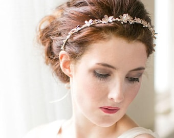 Cherry Blossom Wedding Halo Headpiece, Hair Vine, Crown