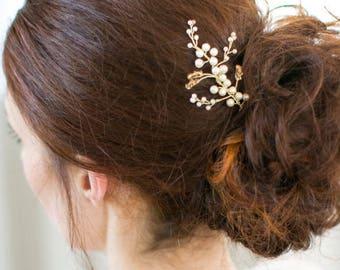 Golden Shadow Crystal Wedding Hair Pin, Bridesmaid Headpiece, in Silver, Gold or Rose Gold