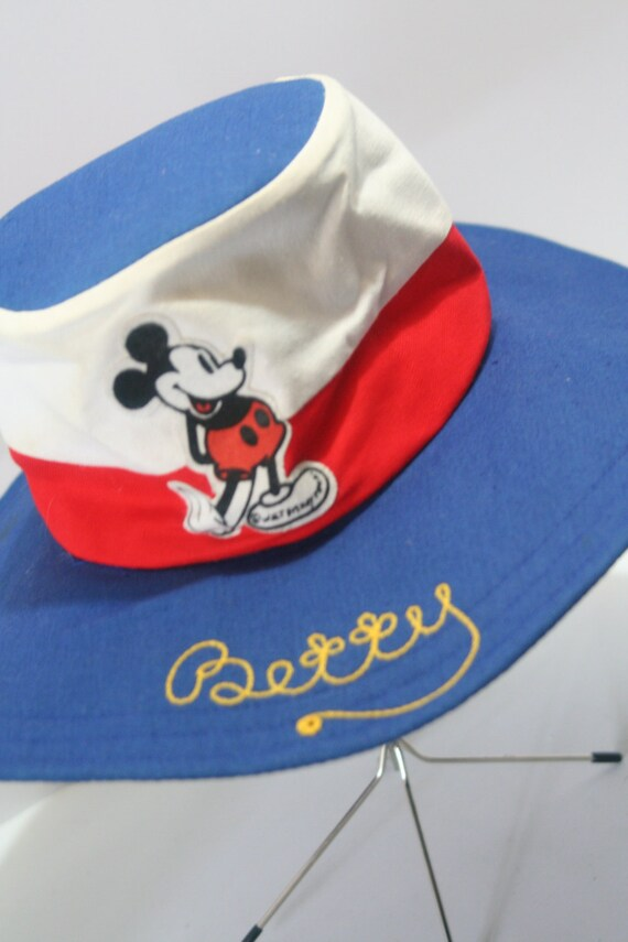 f8ccb6f6035 Vintage Disney Women s Wide Brim Floppy Sun Hat Mickey