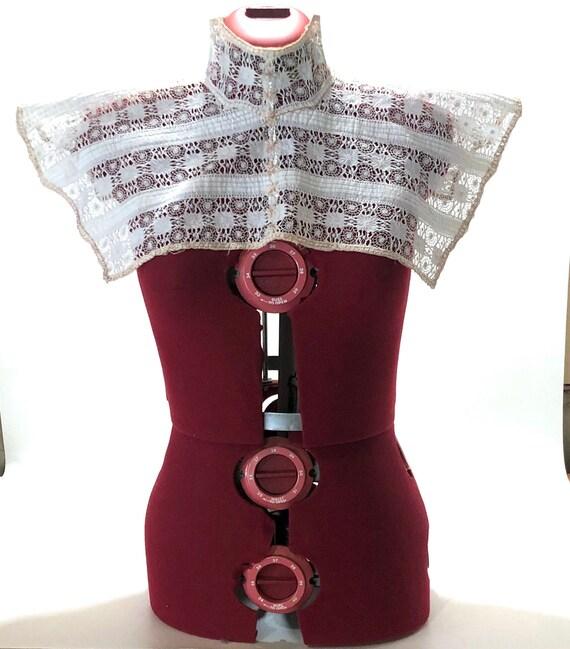 Victorian Collar Stays Women/'s Shirt Collar Stays Antique Silver Inlay Shirt Collar Stays
