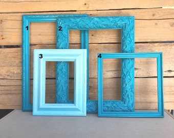 You CHOOSE which Teal Aqua Frame You want... Mix n Match individual OPEN frames, make your own Gallery wall Custom Farmhouse Collection