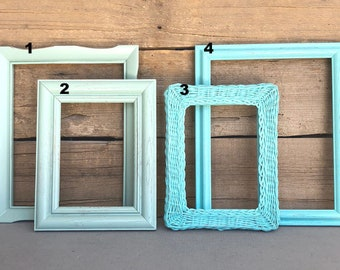 You CHOOSE which frame MINT or Turquoise w/ GLASS You Choose which frame mix and match with other frames add on Custom Farmhouse Collection
