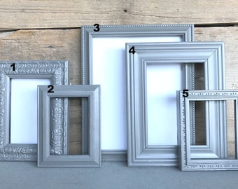 Make your own Gallery wall Greys with GLASS You Choose which frame mix and match with other frames add on Custom Farmhouse Collection
