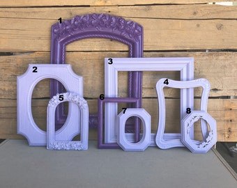 You CHOOSE which Frame You want Purple Lilac... Mix n Match OPEN frames, make you own Gallery wall Custom Farmhouse Collection