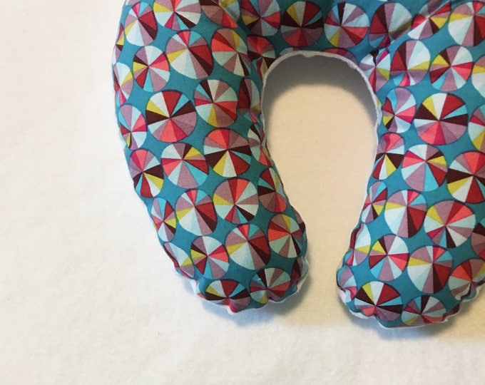 Pinwheels Travel Neck Pillow for Children and Adults