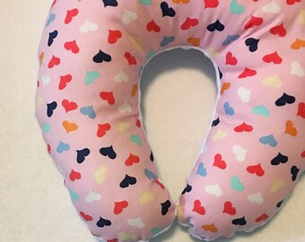 Hearts on Hearts on Hearts Travel Neck Pillow for Children
