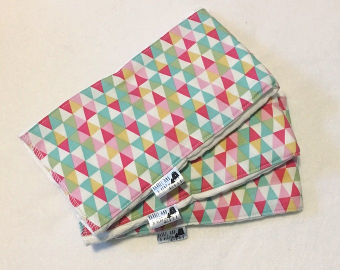 Set of 3 Triangle Burp Cloths