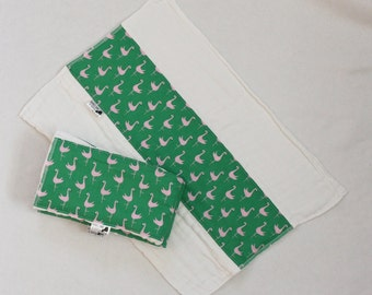 Set of 3 Flamingo Burp Cloths