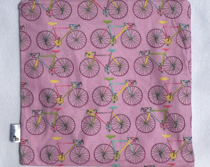 Lavender Bikes PUL Lined Wet Bag with Zipper Close
