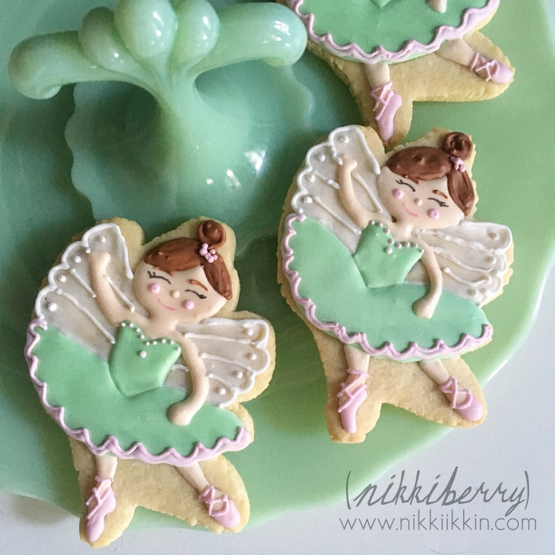 Sugar Plum Fairy From Nutcracker Ballet Cookie