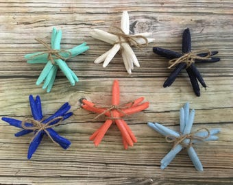 Colorful Starfish Home Decor Blue Beach House Coastal Bundles Turquoise