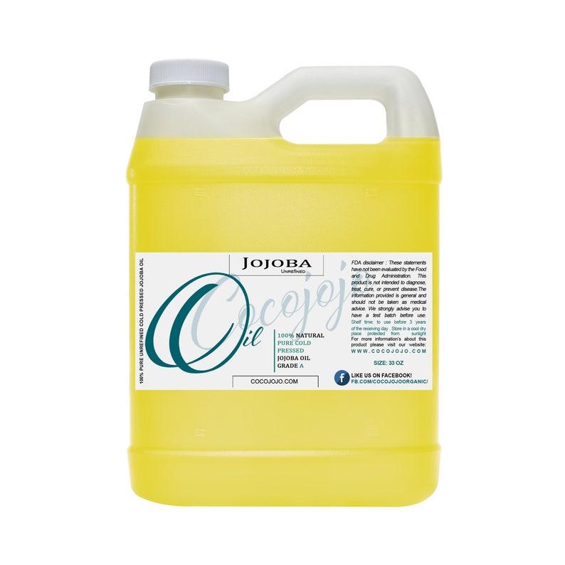Pure Golden Jojoba Oil 100 All Natural Face Skin Nails Cold 32 oz