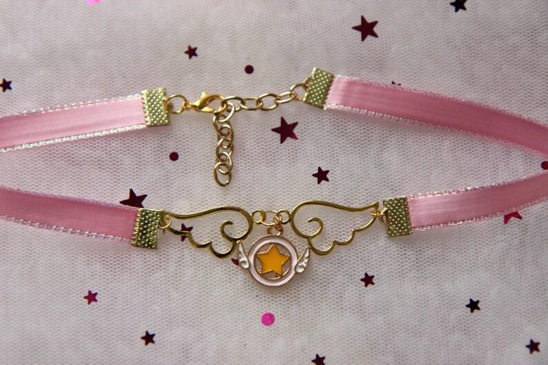 Pink CardCaptor Inspired Ribbon Choker