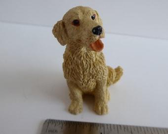 Retriever/Labrador Dog, for a 1:12th Dolls House White